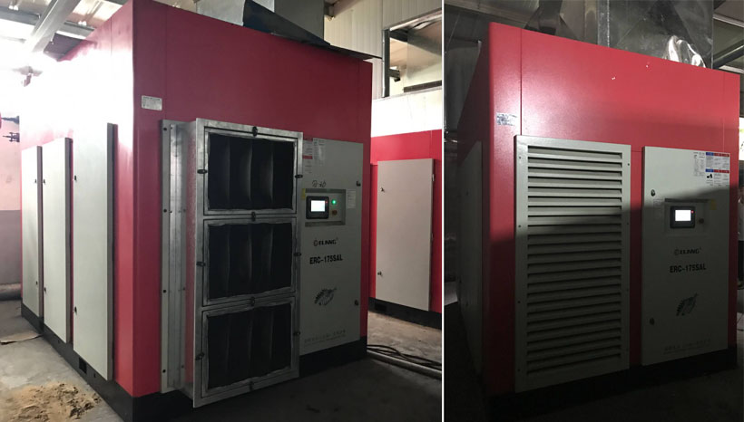 site d'installation du compresseur basse pression