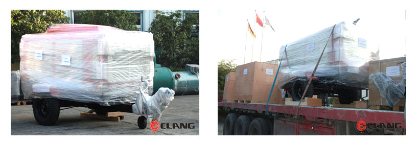 delivery site of diesel portable compressor