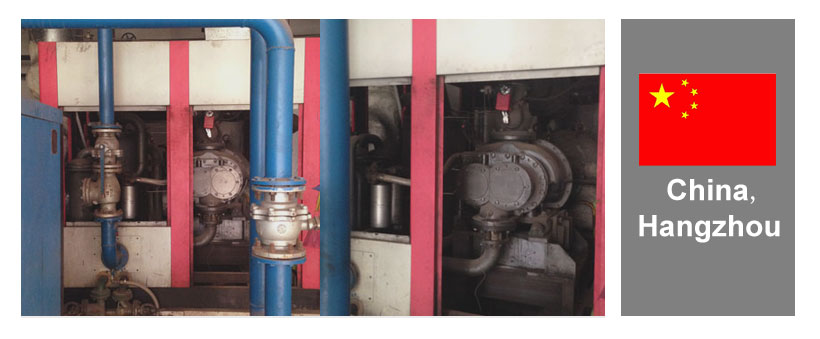installation site of Elang strem turbine compressor