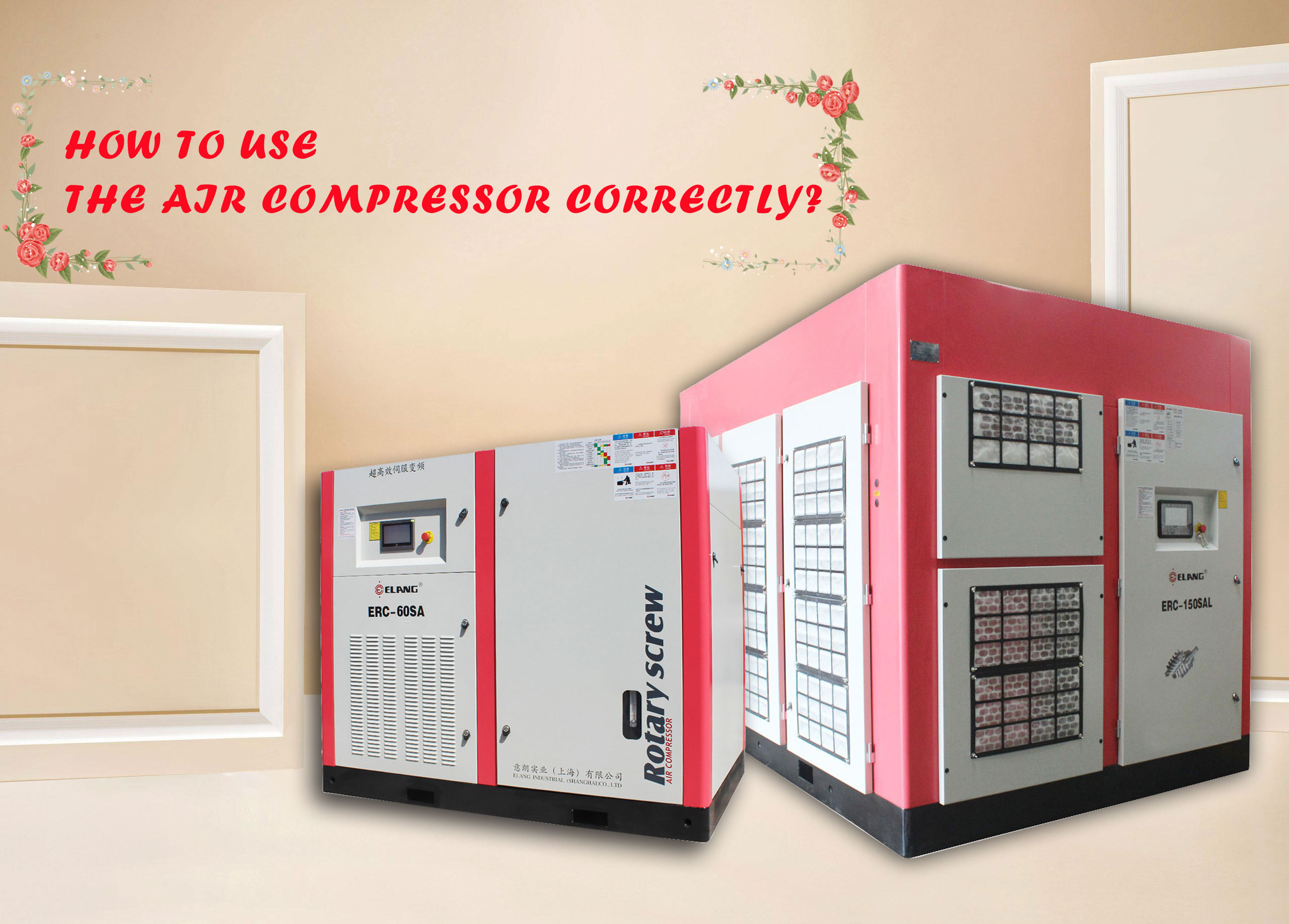use the air compressor correctly